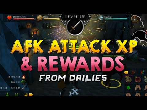 Runescape – AFK Attack XP & Good Daily Rewards!