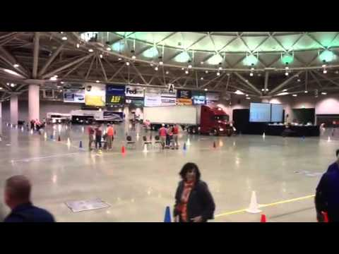 Scott's driving challenge at the national truck driving cha