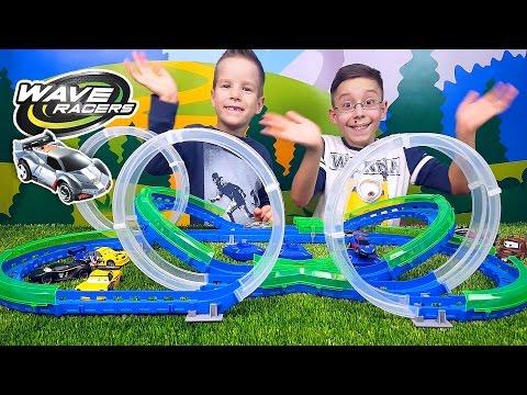 Игровой набор серии WAVE RACERS – Двойные виражи трек 3 петли, 1 сенсорн. машинка, заряд  устр- во