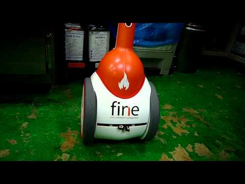 FINE (First INtelligent Extinguisher) first working prototype