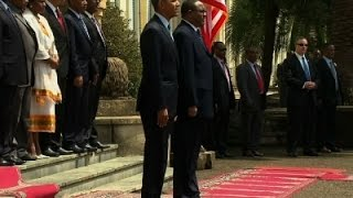 Raw: Ethiopia Welcomes President Obama