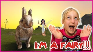 I'm a Fairy Giving Carrots to Bunnies!