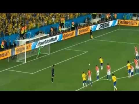 Neymar Penalty Goal World Cup 2014 Brazil vs Croatia (referee error?) HD