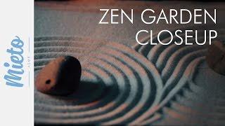 ASMR. Zen Garden - Extreme Closeup, Raking the Sand. No Talking