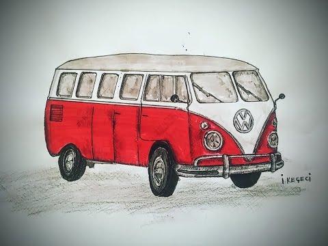 Volkswagen Classic Van  (Timelapse Drawing)