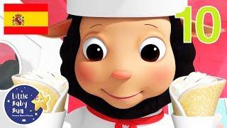 Canciones Infantiles | Diez Tortitas | Dibujos Animados | Little Baby Bum en Español