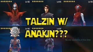 Star Wars: Galaxy Of Heroes - Very Interesting Nightsister Interactions w/ Anakin