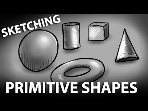 Sketching & Shading Primitive Shapes - Digital Art Tutorial (Corel Painter 12)