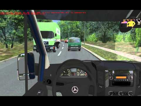 OMSI Gameplay Video im Mercedes-Benz Sprinter 313CDI
