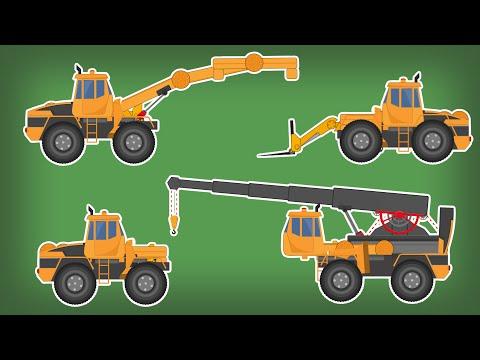 Transformer | Fork Lift | Crane | Handler | Kids Video