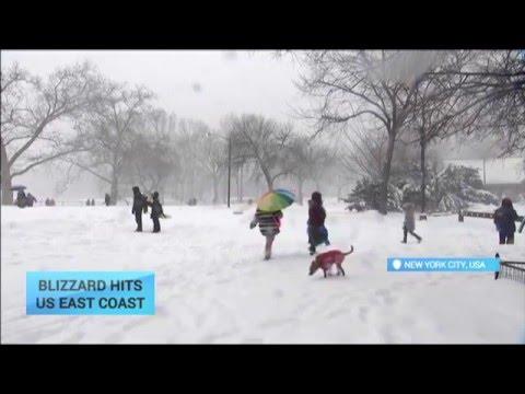 Blizzard Hits US East Coast: Snowstorm paralyzes Washington DC, New York