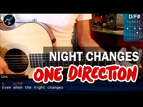 Como tocar Night Changes de ONE DIRECTION En Guitarra PRINCIPIANTES HD Tutorial Acordes