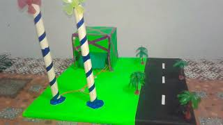 Science project for 9th class with wind mill