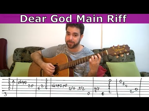 Tutorial: Dear God Main Riff (Avenged Sevenfold) - Guitar Lesson W/ TAB