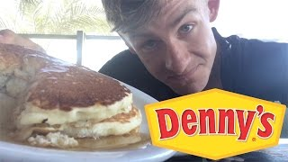 WHAT DO I EAT FOR BREAKFAST? | DENNYS NEW PANCAKE REVIEW!