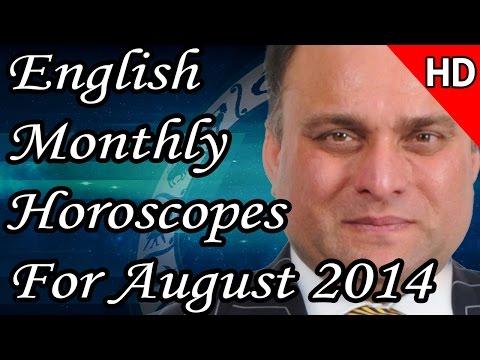 Monthly Horoscope For August 2014 In English | Prakash Astrologer