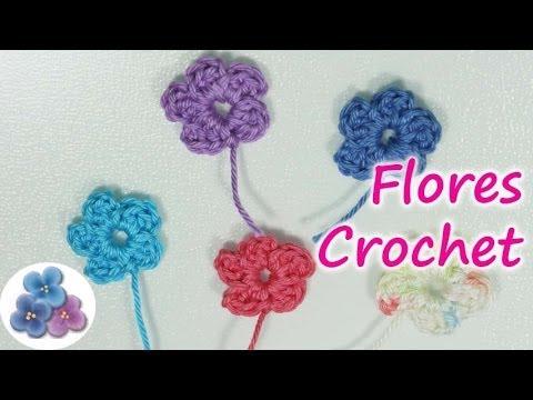 Diy como hacer flores de crochet how to crochet a flower - Hacer flores de ganchillo ...
