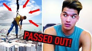 Jumped Off A 650ft Tower! *PASSED OUT IN THE AIR*