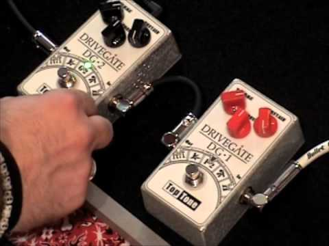 Top Tone Drivegate Fuzz Comparison DG-1 Vs DG-2 Guitar Effects Pedal Demo