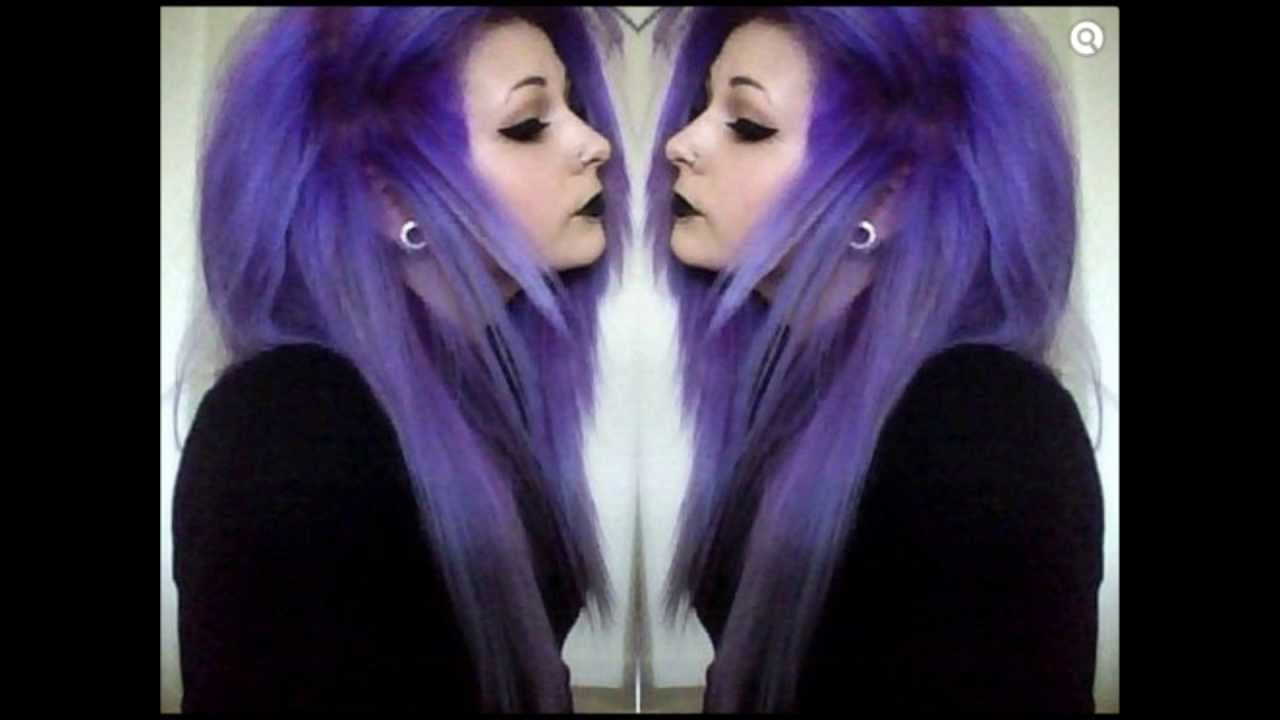 purple scene hair youtube