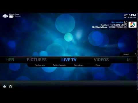 XBMC PVR Addon for MythTV