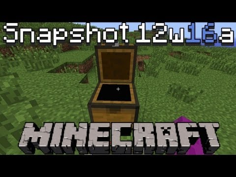 Minecraft Snapshot 12w16a: Cheat e Chest