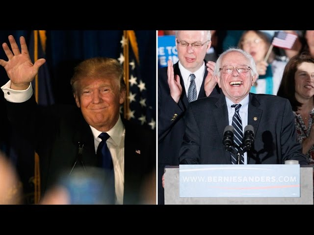 Race to Washington: Trump & Sanders win first primary vote in US presidential race