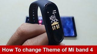 How to change Theme of Mi band 4