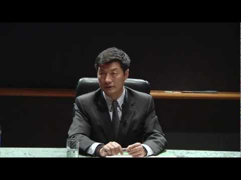 Lobsang Sangay with Chinese Students Q&A
