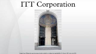ITT Corporation - Water is Life