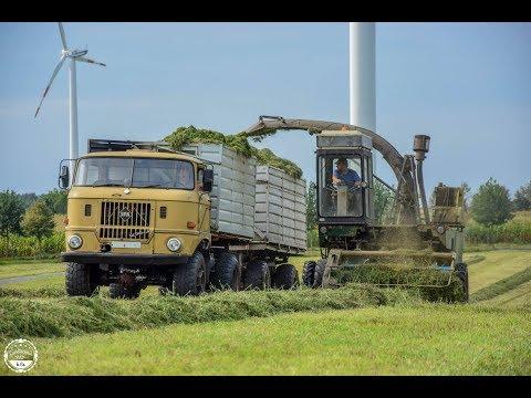 Luzerne häckseln // DDR Technik // Fortschritt E281, IFA W50 , John Deere 6150R , JCB