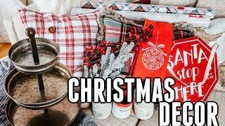 CHRISTMAS DECOR HAUL & SHOP WITH ME VLOG| Hobby Lobby, Homegoods, Marshall's| Tres Chic Mama