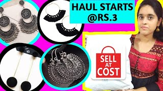 SELL AT COST HAUL PART-3(தமிழ்)Earrings & Bracelets HAUL|