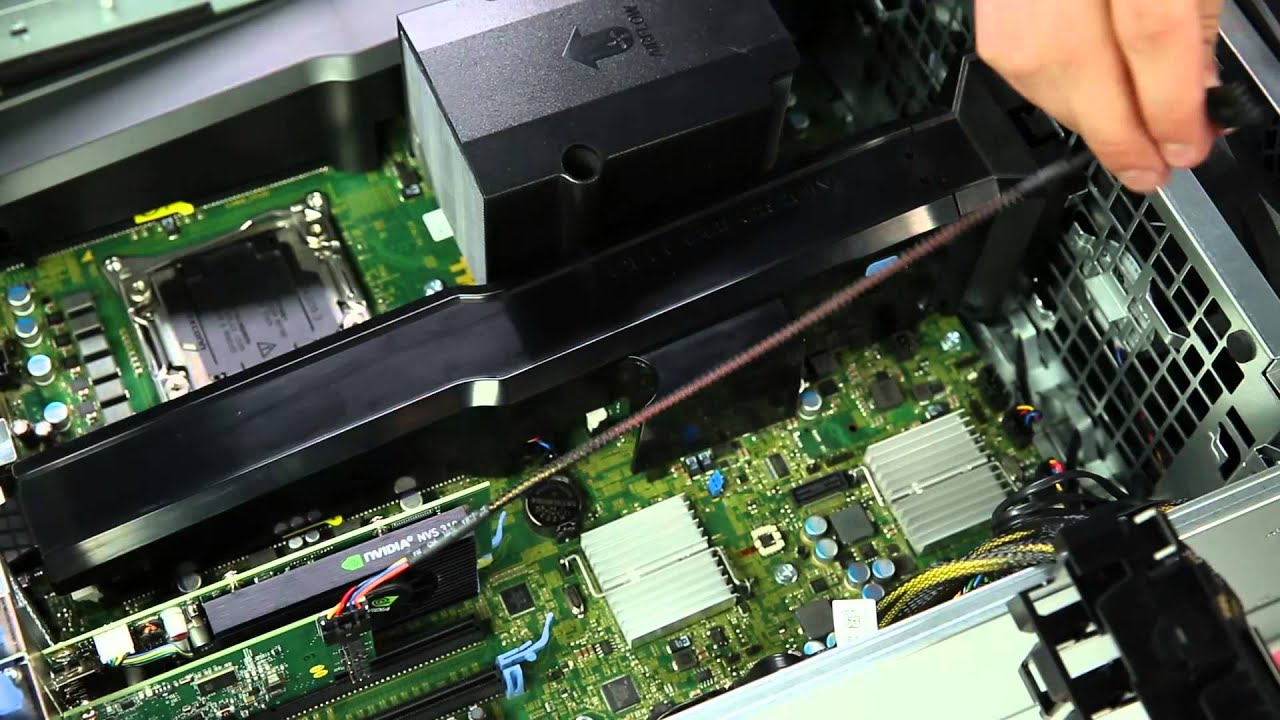 Dell Precision Tower 7910 Install Thunderbolt Card Youtube
