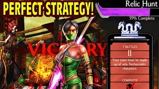 MKX Mobile. How to Defeat BOSS JADE in Relic Hunt. Great Strategy and Tips on Second Tower.
