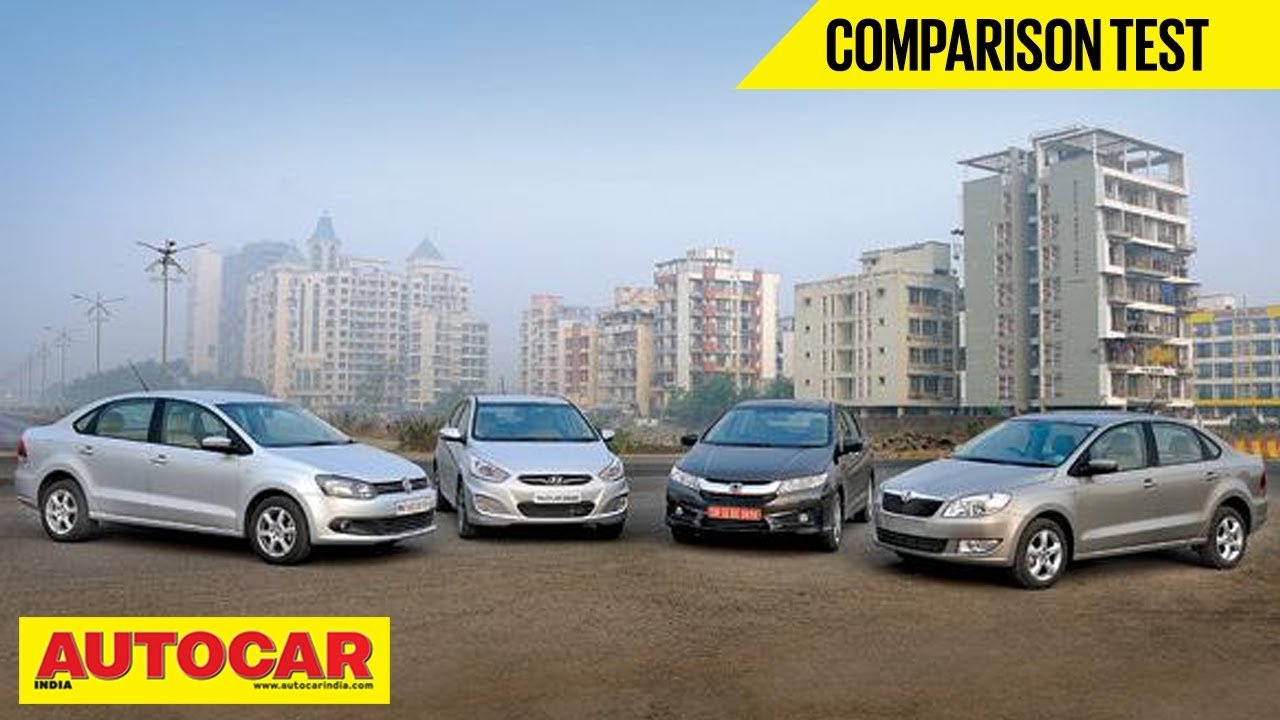 New Honda City Vs Hyundai Verna Vs Skoda Rapid Vs Vw Vento