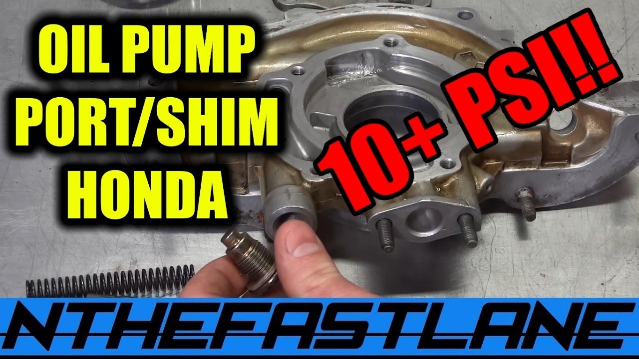 honda prelude engine diagram oil pump port  amp  shim    honda     how to  youtube  oil pump port  amp  shim    honda     how to  youtube
