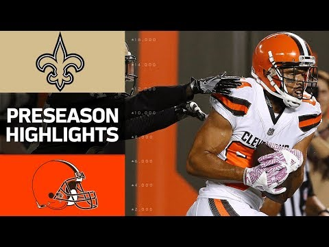 Saints Vs Browns Nfl Preseason Week 1 Game Highlights