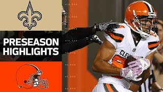 Saints vs. Browns | NFL Preseason Week 1 Game Highlights