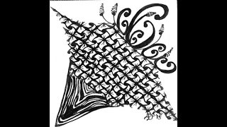 Weekly Zentangle® Tangle Video-ZINGER-May 3-10, 2015