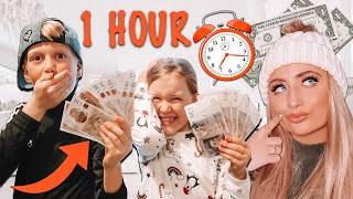 i gave kids ONE HOUR to spend £100!! * what happens if they fail? *