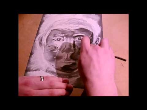Charcoal & Chalk Portrait - Time Lapse