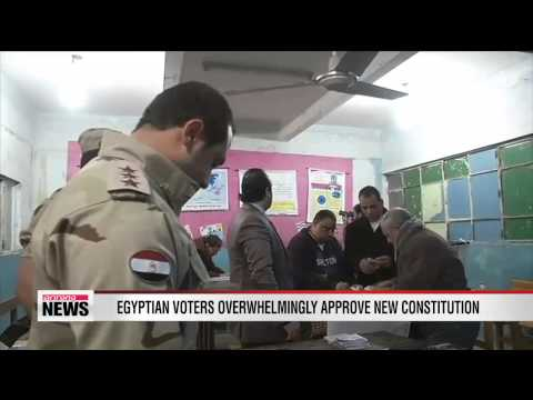 Egyptian voters overwhelmingly approve new constitution