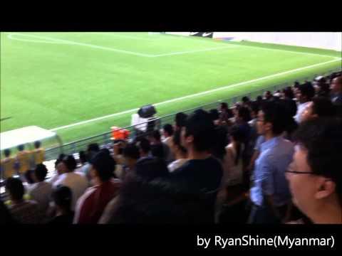 Singapore U23 1 - 0 Myanmar U19 (Myanmar National Anthem)