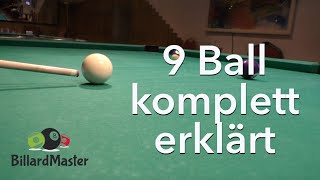 9 Ball - komplett gelocht - MIT Erklärung & Analyse Pool Billard Training | BillardMaster