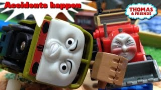 "Thomas and friends ""Accidents happen"" トーマス プラレール ガチャガチャ じこはおこるさ"