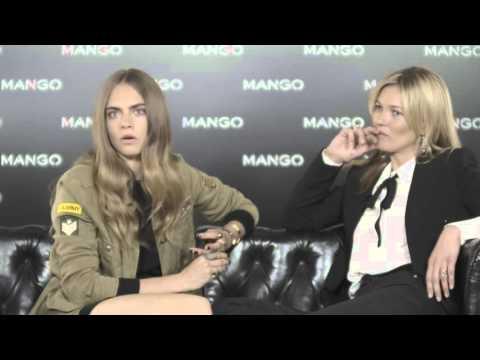 MANGO - Kate Moss & Cara Delevingne em Milão - Entrevista