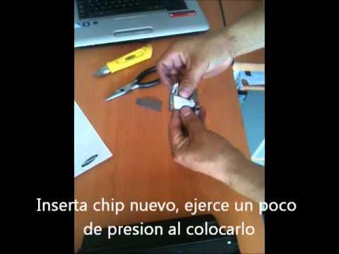Como colocar chip en cartucho samsung 103.wmv