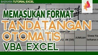 Memasukan Tanda Tangan Otomatis di Excel |Baskara Tutorial Excel Padarincang