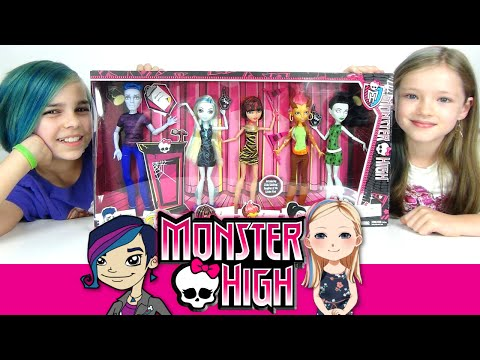 Monster High - Student Council 5 Pack Review with Mal Web - Slo Mo, Scarah and More